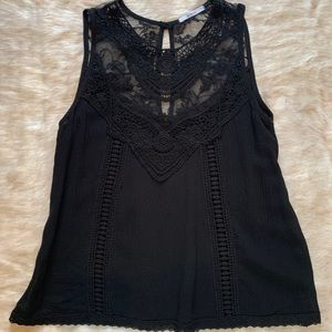 Acemi Sheer Lace Black Top